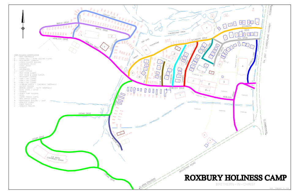 Roxbury Holiness Camp Map